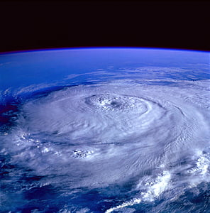 vue aérienne, astronomie, nuages, Terre, horizon, Motion, océan