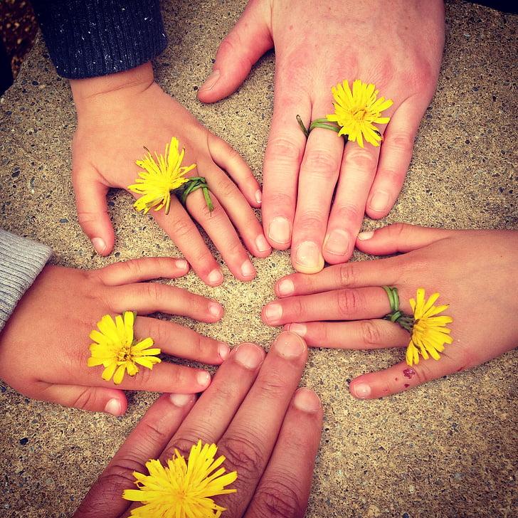 семейство ръка, на открито, Ирландия, семейство щастливи, щастливи деца, щастлив баща, радост