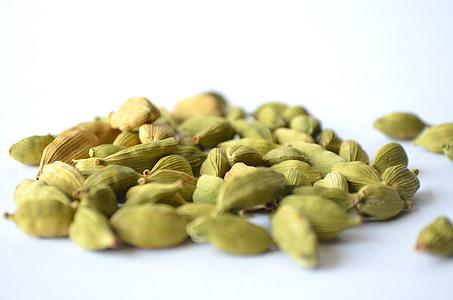 cardamom, Elaichi, verd, processats, espècies, condiment, cuina