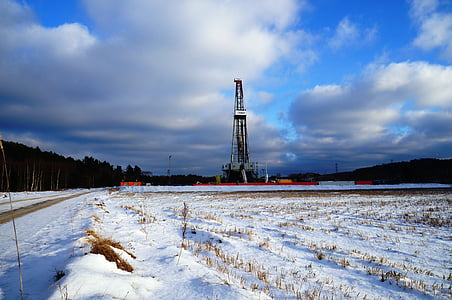 search, oil Rig, snow, industry, winter, petroleum, technology