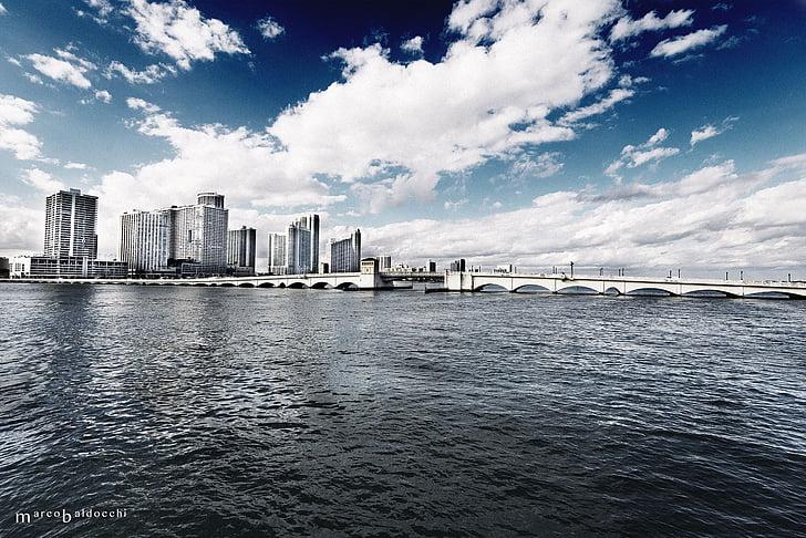 Miami, mar, HDR