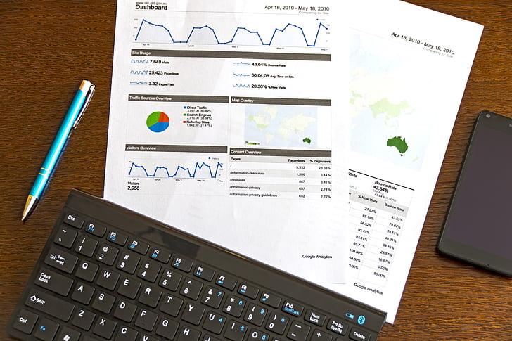 äri, diagrammid, andmed, graafik, kasvu, klaviatuuri, turundus