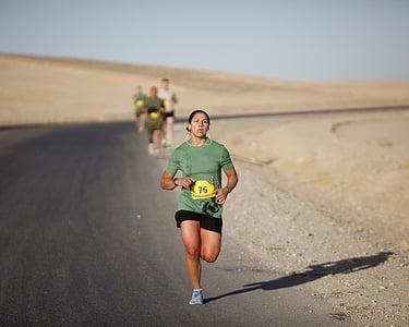 tekač, maraton, vojaški, Afganistan, marinci, konkurence, dirka