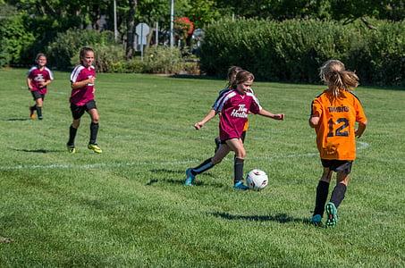 футбол, лято, спорт, футболна топка, дете, деца само, Детски футбол