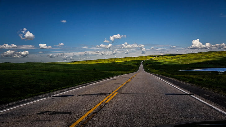 taevas, maastik, maaelu, Road, loodus, maanteel, asfalt