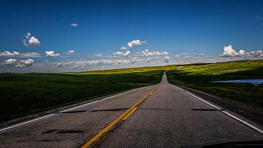 niebo, krajobraz, obszarów wiejskich, drogi, Natura, autostrady, asfaltu