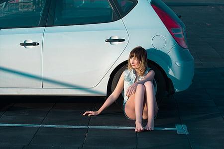Tüdruk, alkoholi, auto, masin, Mudel, isiku, Ilu