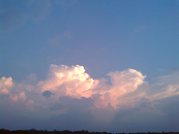 cel, núvol, cel de núvols, natura, blanc, núvols del cel, suau i esponjosa