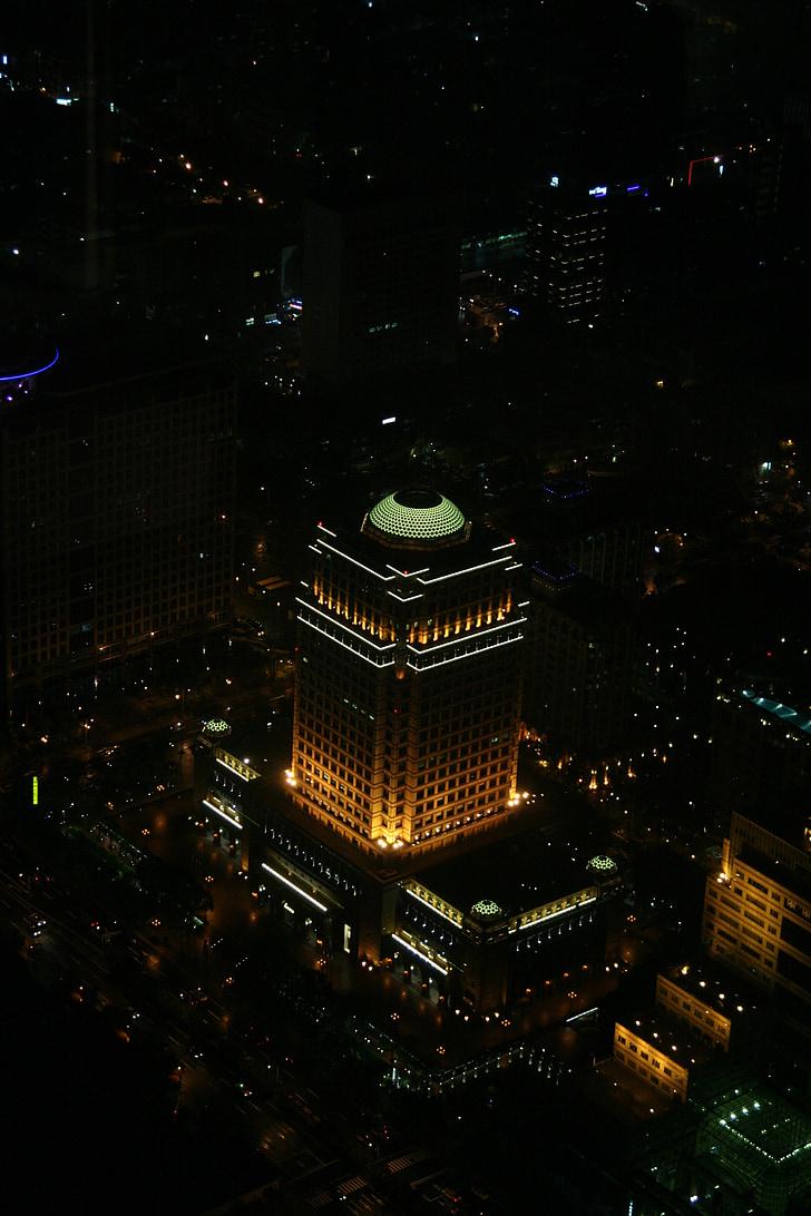 taiwan, night, building, architecture, lighting, at night, city