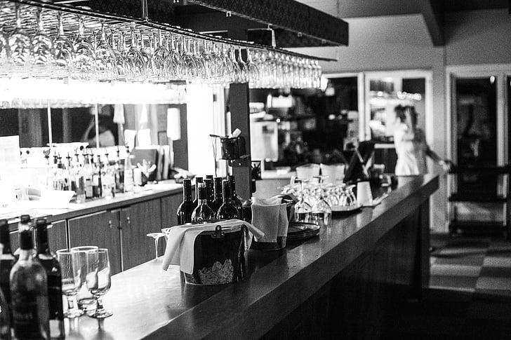 Baar, alkoholi, kokteil, klaas, pool, Restoran, joogid