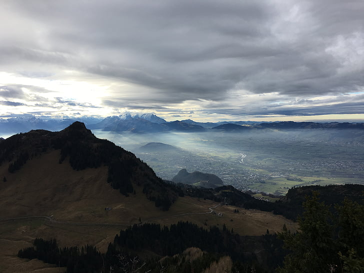 wolken, stemming, hemel, landschap, trieste sfeer, Bergen