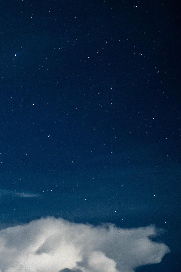 valge, pilved, Tähistaeva, taevas, pilve, taevas, Star
