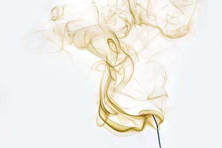 savua, savuinen, valo, tuoksu, haju, rivi, valaistus