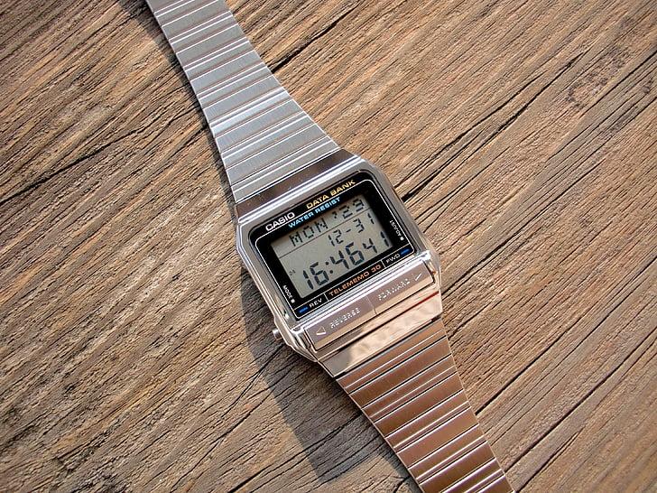 el reloj electrónico, Reloj Casio, reloj de cristal líquido, pantalla LCD, tecnología, estilo, diseño