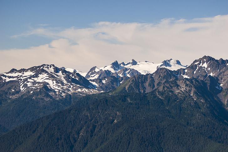 switzerland, the scenery, snow mountain, beautiful, mountain, blue sky