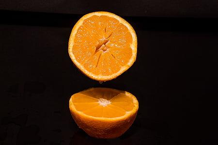 oransje, appelsiner halvparten, drypp, sunn, frukt, vitaminer, velsigne deg