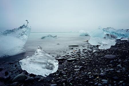 water, iceberg, ice, glacier, landscape, glacial, nature