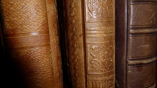 spine, books, antiquariat, old, old book, antiquarian, leather covers