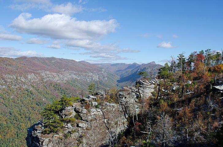 Linville gorge, Kanyon, kayalar, Tablo kaya, Blue ridge Dağları, açık havada