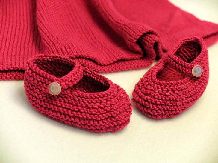 buty, dziecko, Knitt, Wełna, dziewiarskie, rzemiosło, domowej roboty