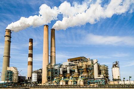 indústria, poder, energia, industrial, planta, fàbrica, medi ambient