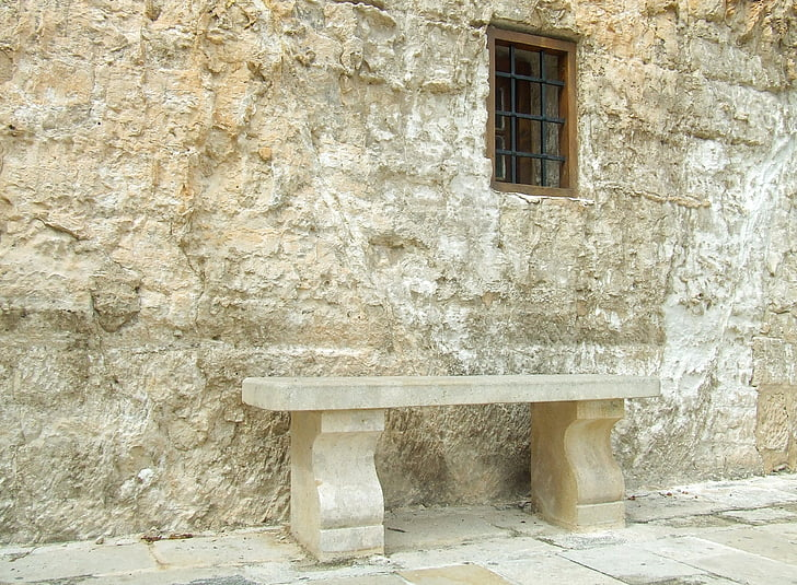 stone, bench, outdoor, nature, summer, old, architecture