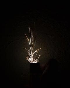 hand lighter, lighter, dark, night, hot, yellow, energy
