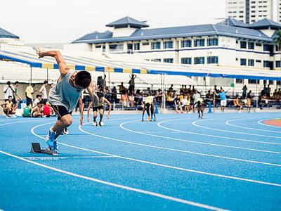 oameni, bărbaţi, a alerga, cursa, sport, joc, locul de desfăşurare