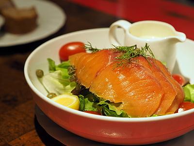 훈제 연어 샐러드, 연어, 훈제 연어, 샐러드, 건강, 건강에 좋은 음식