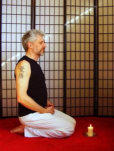 meditació, seient de meditació, budisme, Zen, zazen, meditar, Buda