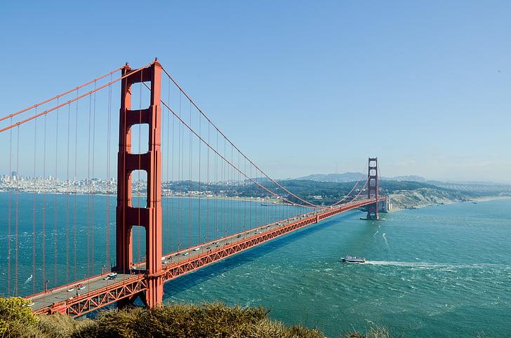 Γέφυρα Γκόλντεν Γκέιτ, ΗΠΑ, Αμερική, γέφυρα, Σαν Φρανσίσκο, Προβολή, οπτική γωνία