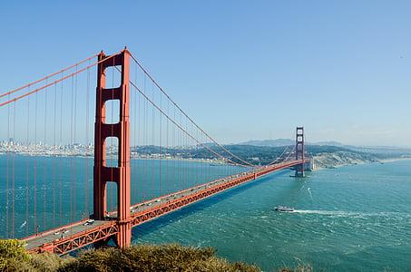 pont Golden gate, EUA, Amèrica, Pont, san francisco, veure, punt de vista