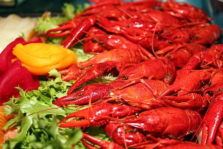 garneles, Starter, Scampi, pārtika, jūras veltes, garšīgi, ēst