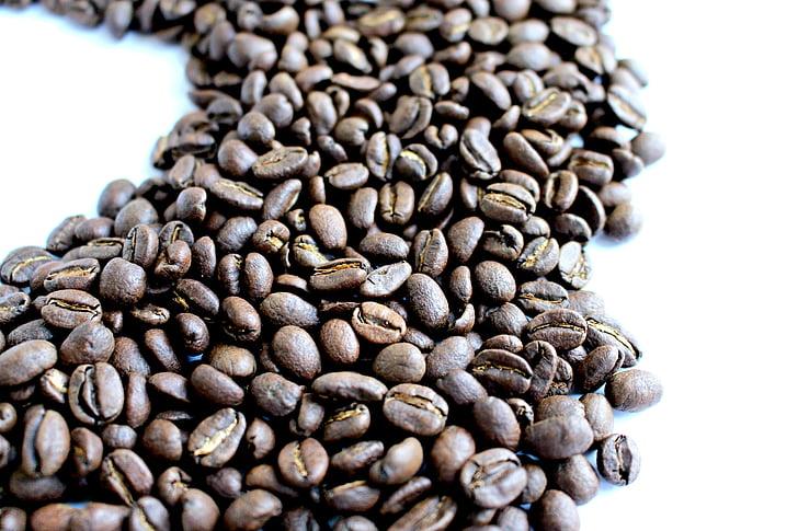 káva, kaviareň, kofein, kávové zrná, fazuľa, hnedá, espresso