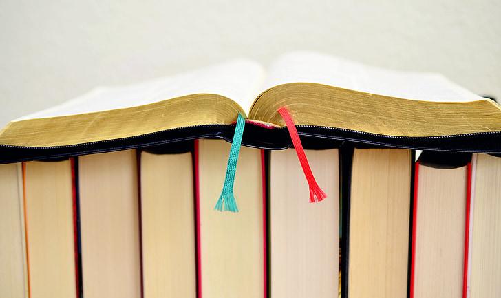 도 서, 성경, 금박된 가장자리, 믿습니다, 기독교, 거룩한 책, 페이지