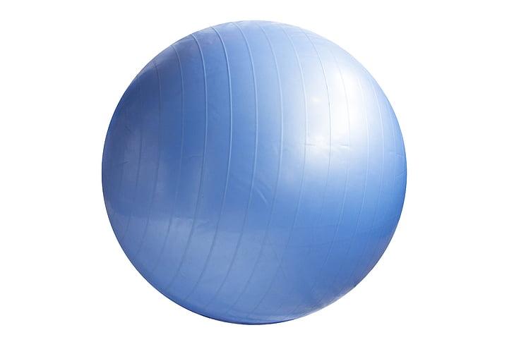 pilota d'exercici, pilota, blau, gimnàs, exercici, adult, salut
