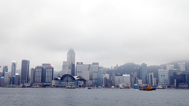 el paisatge urbà, ciutat, Hong kong, gran f, Hong Kong, bibkn Museu, 陰