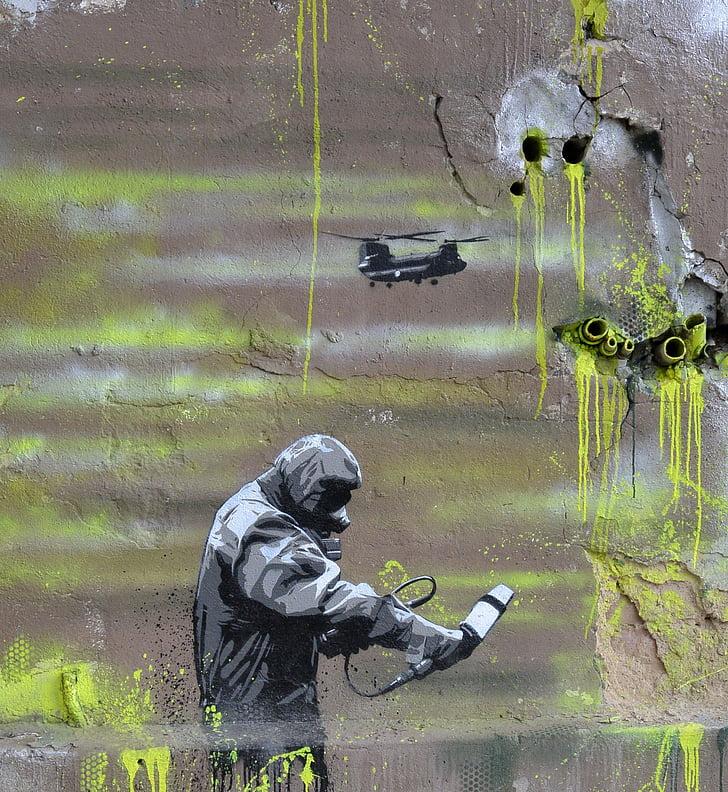 graffiti, art urbà, polvoritzador, pintura mural, art urbà, Art, Berlín