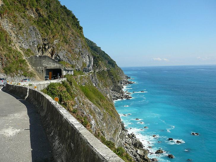 Taiwan, Mar, penya-segat, blau, Costa, natura
