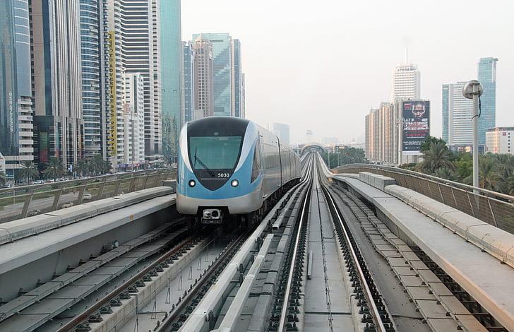 dubai, metro, rail, transport, arab emirates, public transport, modern