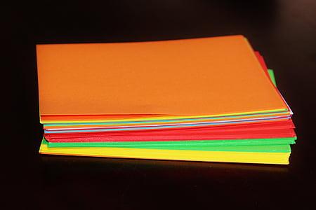 document, document de to, colors, material d'oficina, materials d'artesania, flipchart, taronja