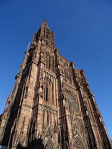 Catedral, Estrasburg, regió d'Alsàcia, França, edat mitjana, gòtic, pedra sorrenca