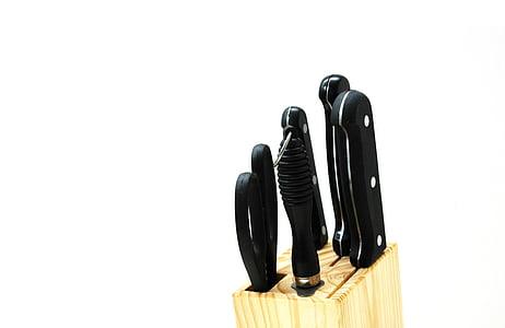 ganivets de cuina, Estris de cuina, Estris de cuina, porta ganivets, conjunt de ganivet, ganivets, tisores
