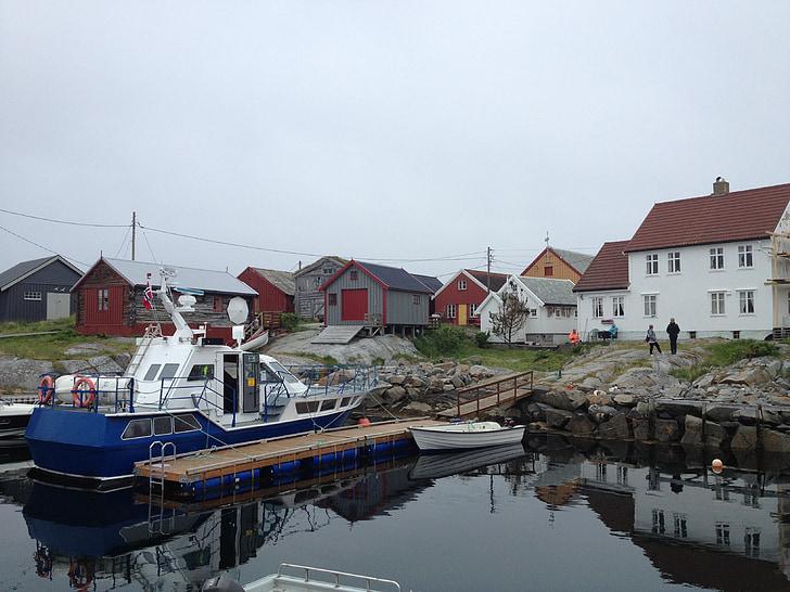 Grip, Noruega, Isla, barcos, mar, la costera