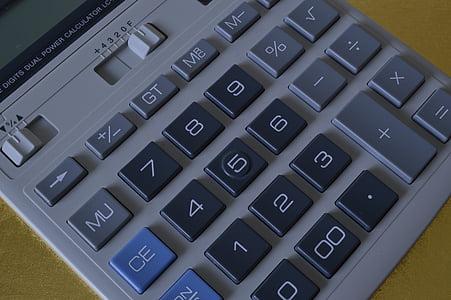Kalkylatorn, beräkning, knappsatsen, Finance, matematik, redovisning, finansiella