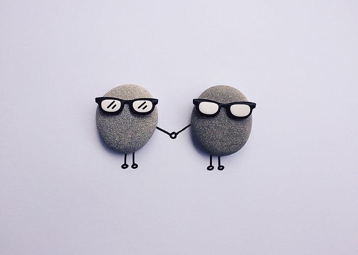 アート, クラフト, 創造的です, かわいい, 小石, 岩