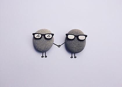 kunst, ambachtelijke, creatieve, schattig, steentjes, rotsen