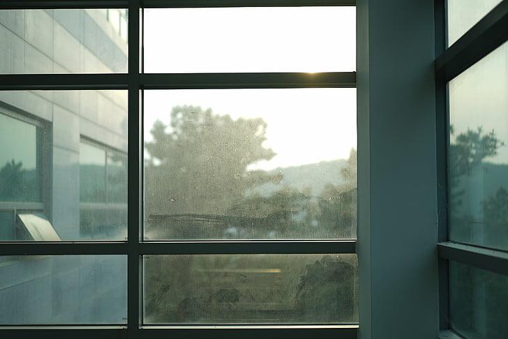 finestra, pols, Faixa, edifici, vidre, vidre - material, l'interior