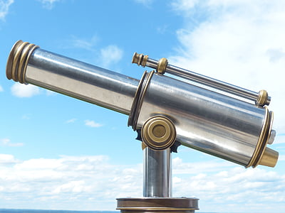 telescope, by looking, view, binoculars, optics, distance, vision