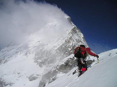 matterhorn, hörnligrat, cold, climb, alpinism, bergsport, alpine